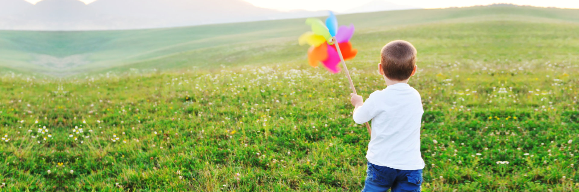 Happy child have fun outdoor